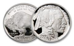 2001-P 1-oz Silver Buffalo Proof