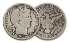 1892-1915 Silver Barber Half Dollar G-VG