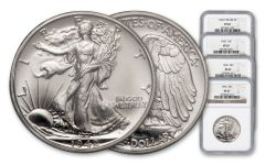 1942-P 5-50 Cent Silver Collection NGC PF67 4pc