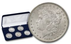 1881-1885-O Morgan Silver Dollar BU 5pc Set