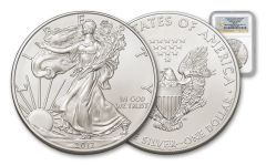 2012-W 1 Dollar 1-oz Silver Eagle Box 4 NGC MS70 First Releases