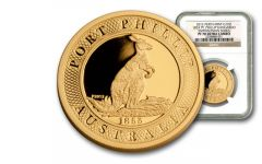2012 Australia 1-oz Gold Port Phillip Kangaroo NGC PF70 Smithsonian Collection