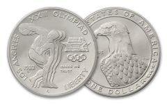 1983-P 1 Dollar Silver Olympic Discus Thrower BU
