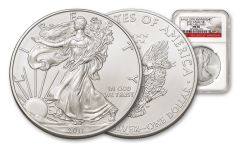 2011-W 1 Ounce $1 Silver Eagle 25th Anniversary NGC MS70 ER