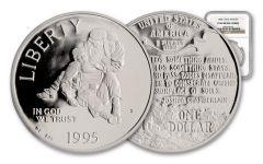1995-S 1 Dollar Silver Civil War Battlefields PCGS PR69