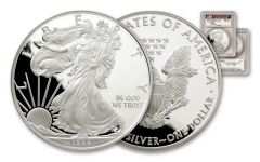 1989-S 1 Dollar 1-oz Silver Eagle PCGS PR69DCAM  Mercanti Signed