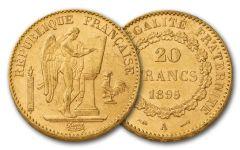 1878-1898 France 20 Francs Gold Angel BU