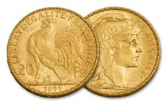 1899 France 20 Franc Rooster BU