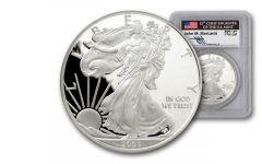 2005-W 1 Dollar 1-oz Silver Eagle Proof PCGS PR69 Mercanti Signed