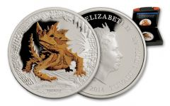2014 Tuvalu 1-oz Silver Thorny Devil Lizard Proof