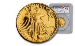 1989-P 25 Dollar 1/2-oz Gold Eagle PCGS PR70DCAM Moy Signed