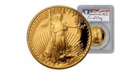 1997-W 50 Dollar 1-oz Gold Eagle PCGS PR70DCAM Moy Signed