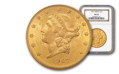 1907-P 20 Dollar Gold Liberty NGC/PCGS MS63