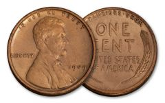 1909 One Cent Lincoln VDB XF