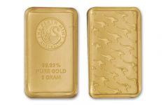 Australia 5 Gram Gold Kangaroo Gold Bar - Perth Mint