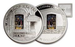 2014 Cook Island 50 Gram Silver Windows of Heaven Buenos Aires