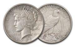 1921-P Peace Dollar AU