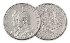 1901 Prussia 2 Marks 200th Anniversary VG-VF