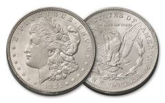 1921-D Morgan Silver Dollar AU