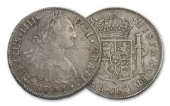 1772-1832 Spain 8 Reales Portrait NGC XF