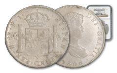 1772-1832 Spain 8 Reales Portrait NGC AU