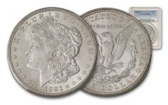 1921-D Morgan Silver Dollar PCGS/NGC MS64
