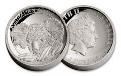 2014 Australia 1-oz Silver Koala High Relief Proof