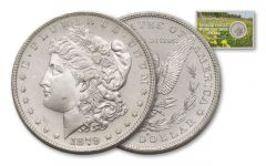 1879-S Morgan Silver Dollar Ingalls Family BU