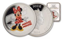 2014 Niue 1-oz Silver Disney Minnie Mouse NGC PF69 Colorized