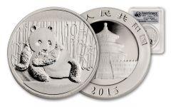 2015 1-oz Silver Panda PCGS MS69 First Strike