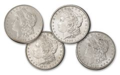 1899-1902-O Morgan Silver Dollar BU 4pc Set