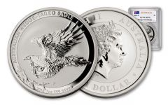 2015 Australia 1-oz Silver Wedge-Tailed Eagle PCGS MS70