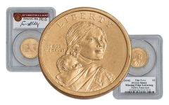 2010 Sacagawea Dollar Error PCGS MS64 Moy Signed