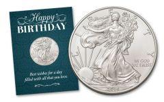 2016 1 Dollar 1-oz Silver Eagle BU Birthday Traditional