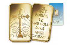 Pamp Suisse 5 Gram Gold Cross Bar