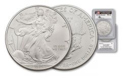 2015-W 1 Dollar 1-oz Burnished Silver Eagle PCGS SP70 FDI Mercanti Signed DEN