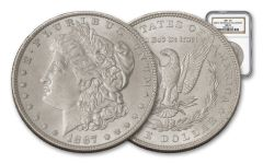 1887-P Morgan Silver Dollar NGC MS63 – Great Montana Collection
