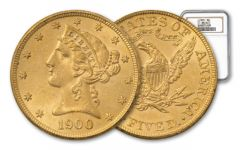 1866-1908 5 Dollar Liberty NGC/PCGS MS62