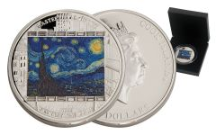 2015 Cook Island 3-oz Silver Starry Night Proof
