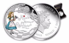 2015 Tuvalu 1-oz Silver Alice in Wonderland Proof