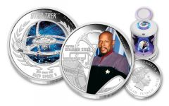 2015 1-oz Silver Star Trek Captain Sisko & DS9 Ship Proof 2-Coin Set