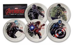 2015 Niue 2 Dollar 1-oz Silver Avengers Age of Ultron 5 Piece Proof Set