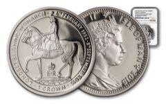 2015 Isle of Man 1-oz Silver The Longest Reign Queen Elizabeth II NGC PF69UCAM