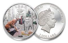 2015 2 Dollar Half Ounce Silver Lynx Proof