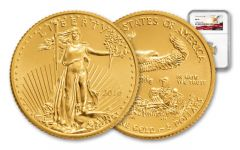 2016 5 Dollar 1/10-oz Gold Eagle NGC MS69