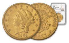 1864-S 20 Dollar Liberty NGC AU50 Rive D'OR