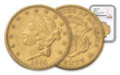 1865-S 20 Dollar Liberty NGC AU50 Rive D'OR