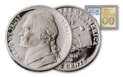 2004 5 Cent Jefferson Peace Medal PF70