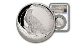 2016 Australia 1-oz Silver Wedge-Tailed Eagle PF70 High Relief Mercanti
