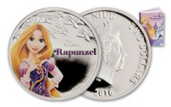2016 Niue 1-oz Silver Disney Rapunzel Proof